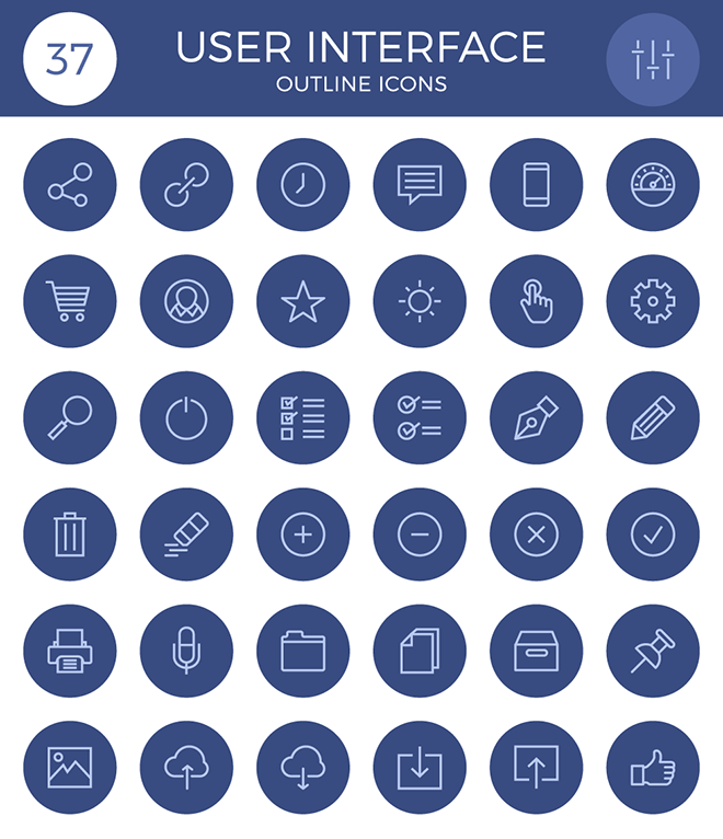 User Interface Outline Icon Set