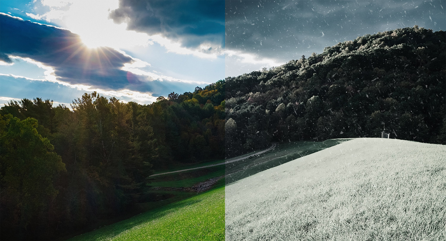 How to change a photo from summer to winter in photoshop summer to winter conversion in adobe photoshop baditri Gallery
