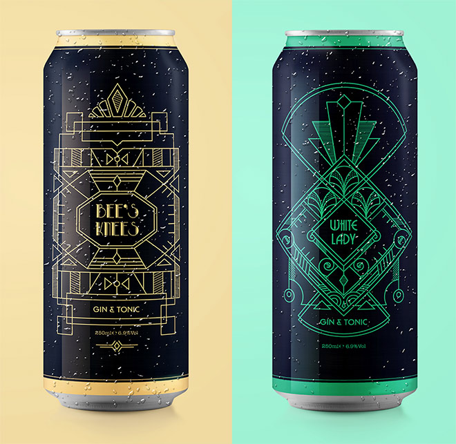 Gin Cocktail Branding by Fuelled by Design