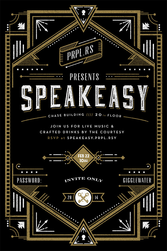 Speakeasy Invite by Frank Rodriguez