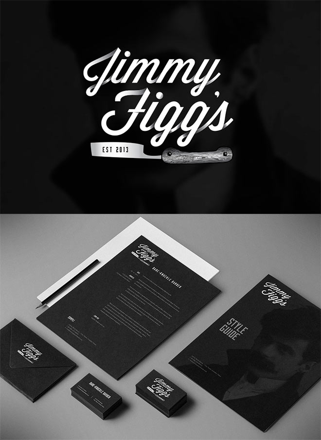 Jimmy Figg's Barber Shop by Samuel Blomley