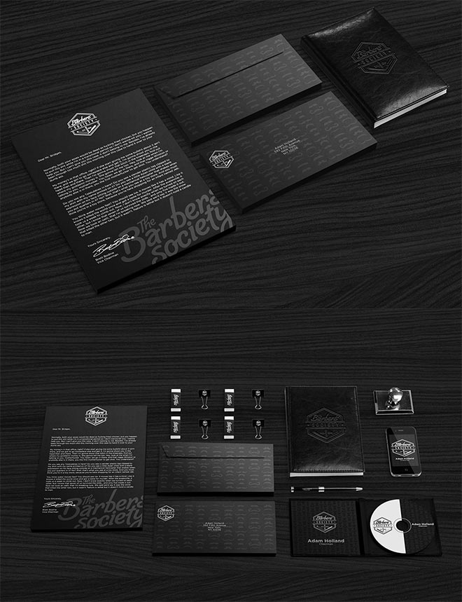 Barbers' Society Branding by Adam Holland