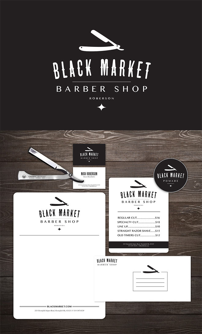 Blackmarket Barber Shop by Emmy Beaven
