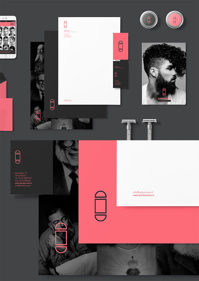Branding for Barbacicova BarberShop by Papere Studio
