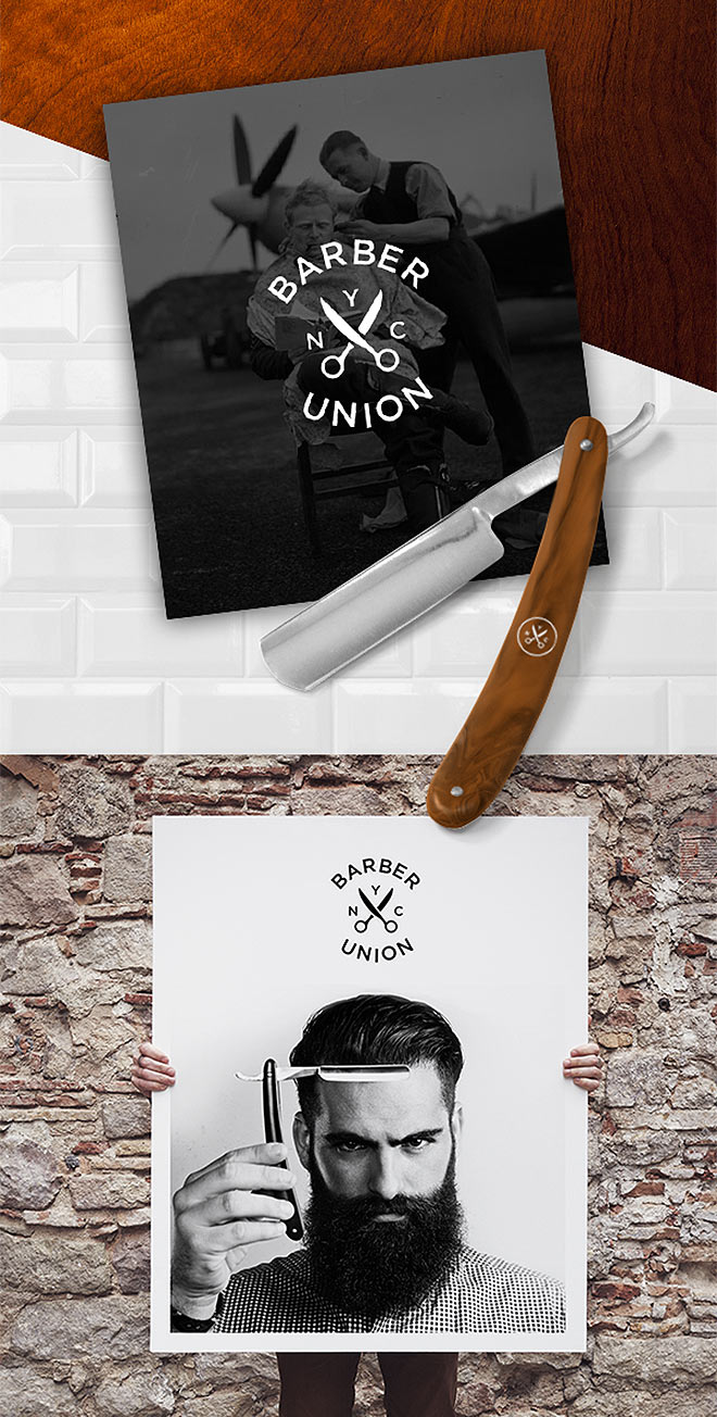 Barber X Union Branding by Jonathan Billick