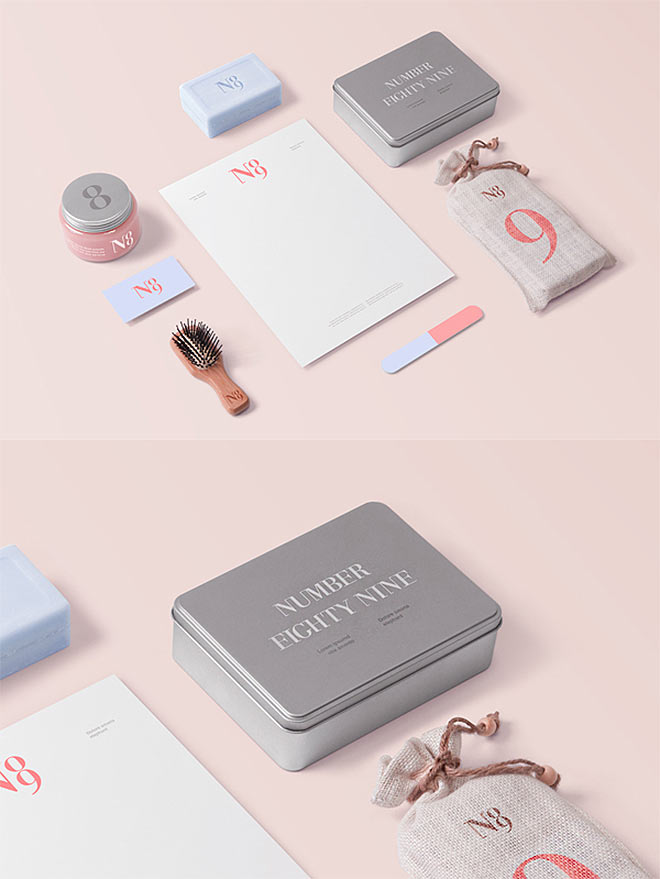 Barber & Cosmetics Mockup by Forgraphic