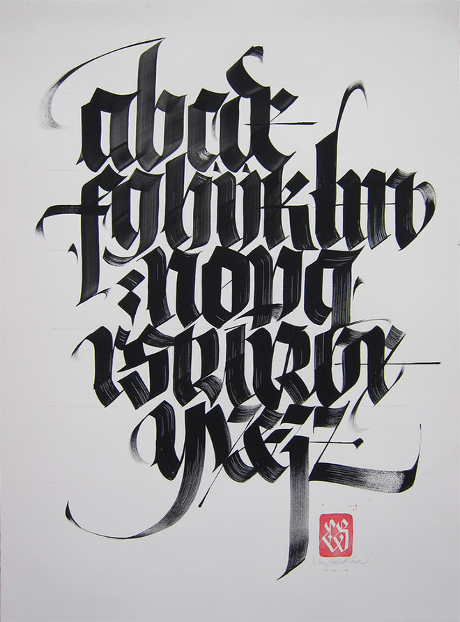 Blackletter Alphabet by Luca Barcellona