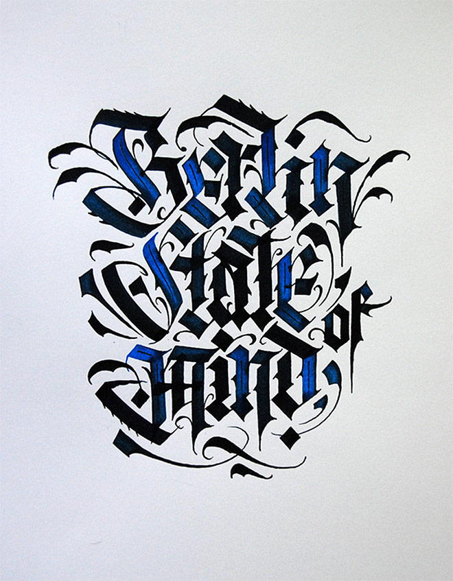 45 Beautiful Examples Of Blackletter And Gothic Calligraphy