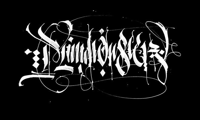 Beautiful examples of blackletter and gothic calligraphy