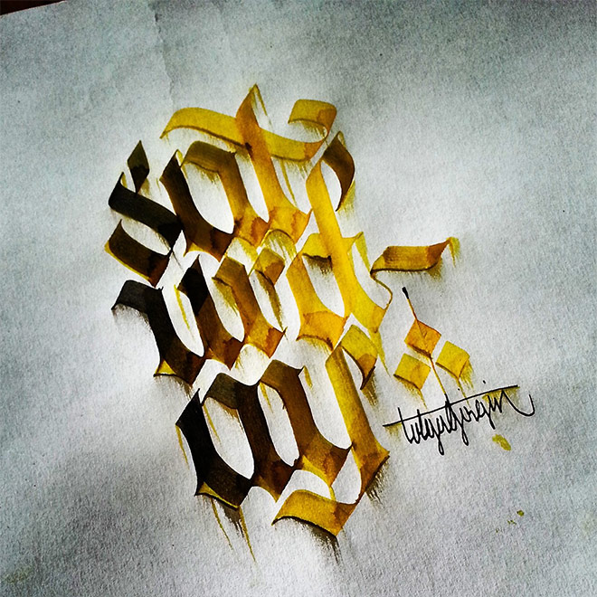 Colorful Letterings by Tolga Girgin
