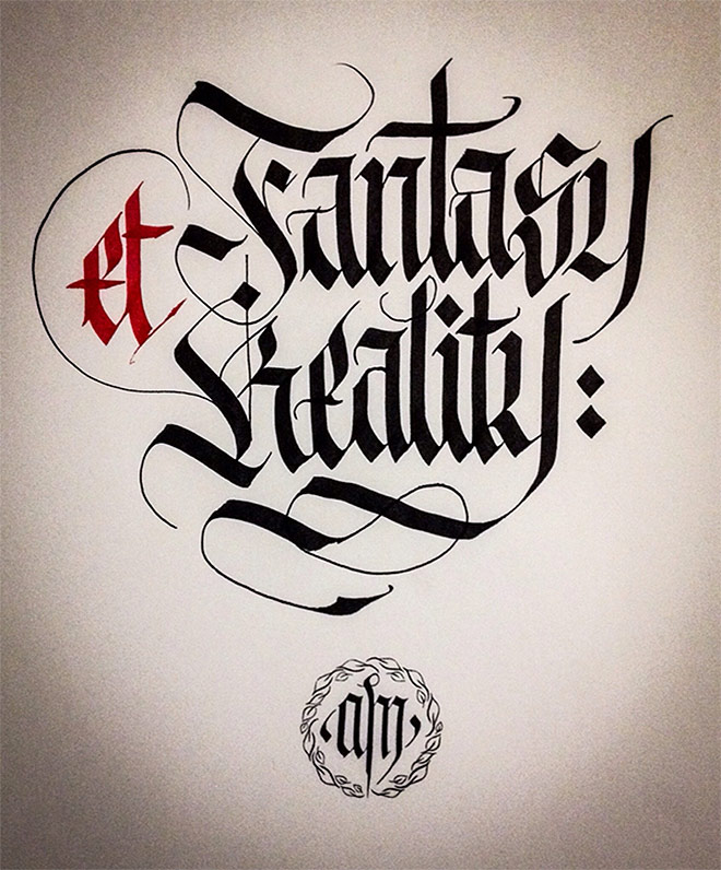Calligraphy Fraktur Lettering by Alberto Manzella