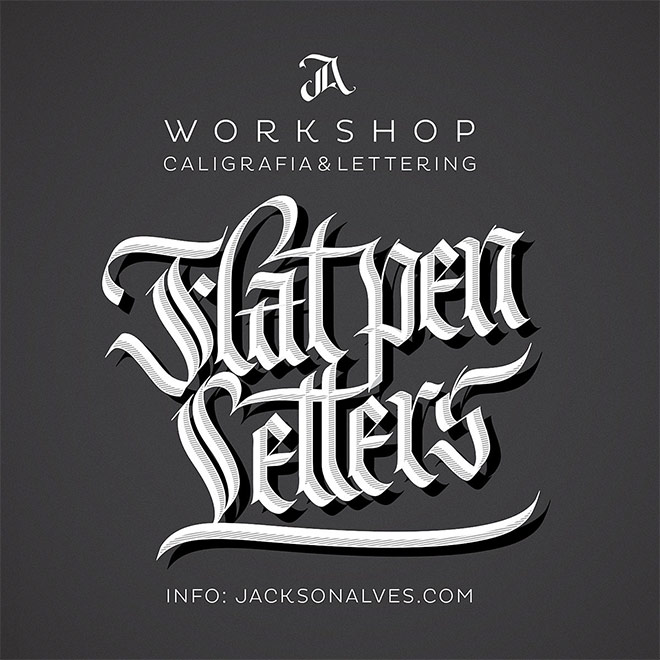 Flat Pen Letters Workshop by Jackson Alves