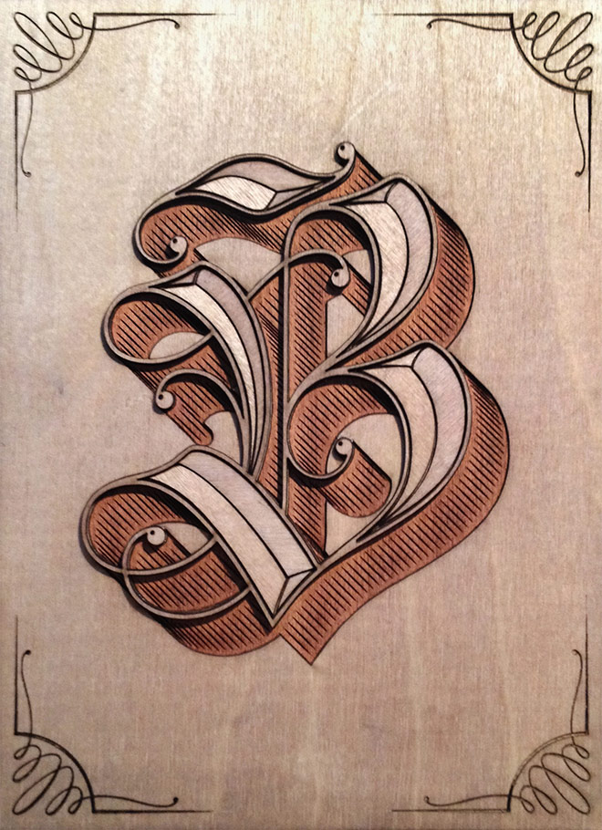 B is for Blackletter by Eltipo Graphic