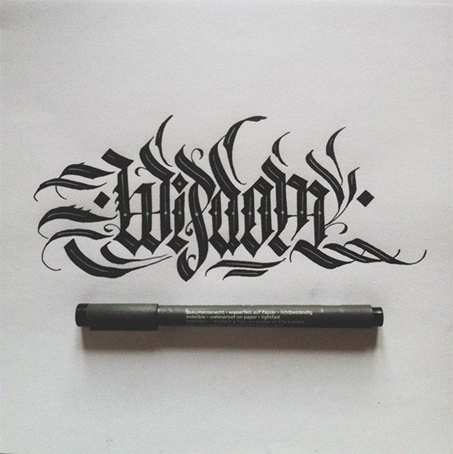 Calligraphy Collection by Daniel Letterman