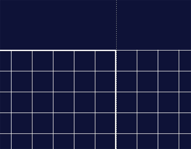 How to create a blueprint effect in adobe photoshop zoom in and draw selections with the marquee tool that capture the grid pattern around the edges up to this thicker stroke then hit the delete key to malvernweather Image collections