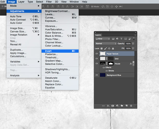 How to create a blueprint effect in adobe photoshop malvernweather Images