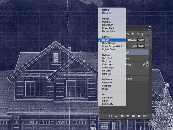 How to create a blueprint effect in adobe photoshop malvernweather Gallery