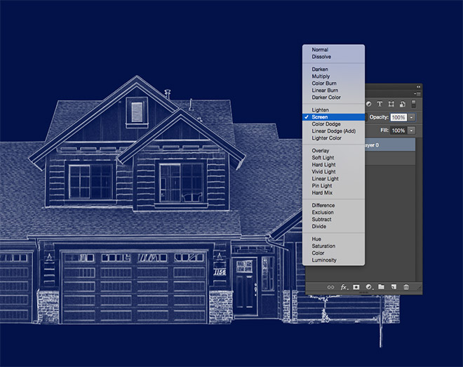 How to create a blueprint effect in adobe photoshop malvernweather Choice Image