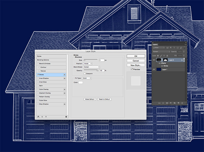 How to create a blueprint effect in adobe photoshop 8g malvernweather Gallery