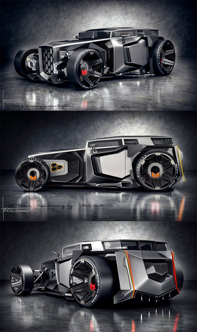 Lamborghini Hot Rod Concept Car by PJW Design