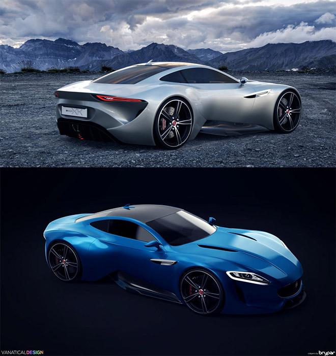 Jaguar Envision XK Concept by Jennarong Muengtaweep
