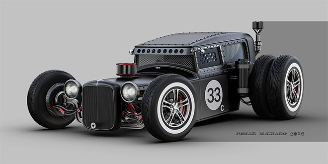 Slick Hot Rod by Jomar Machado