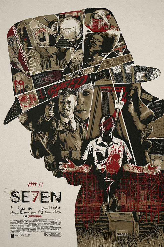 SE7EN Poster by Changethethought Studio