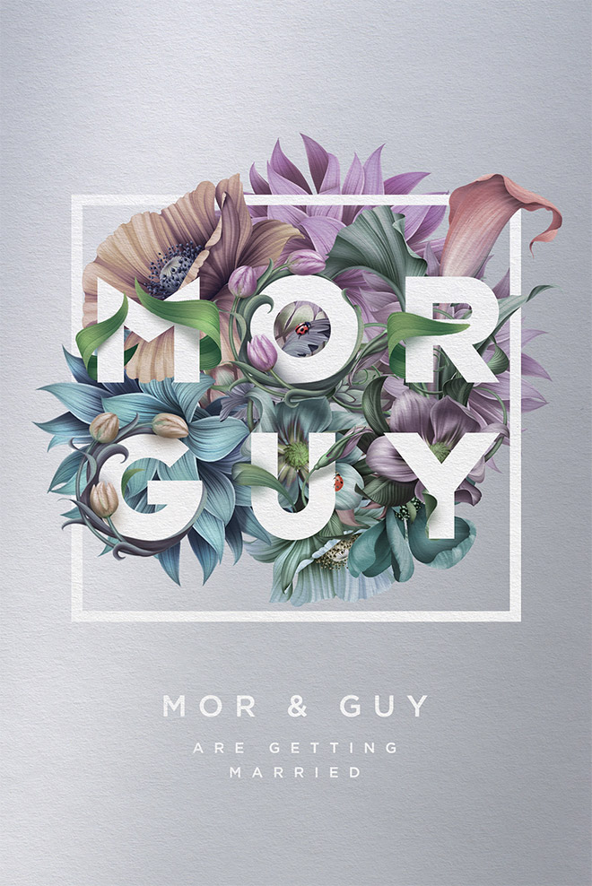Mor & Guy wedding invitation by Roman Gulman