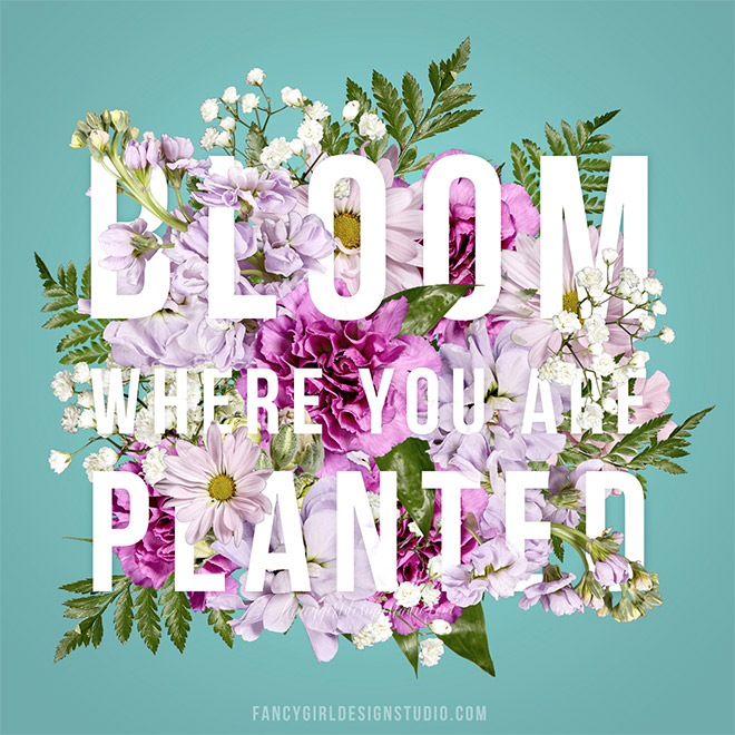 Floral Typography by Fancy Girl Designs