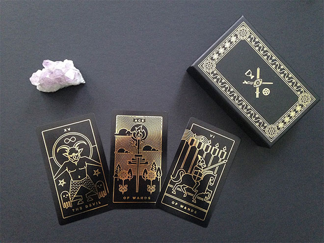 Golden Thread Tarot Printed Deck by Tina Gong