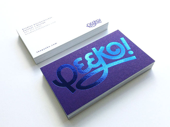 Peeko Business Cards by Bradley Knickerbocker