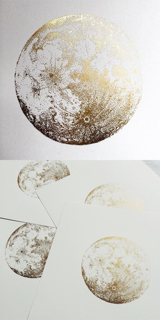 Gold Full Moon by Sabrina Kaici