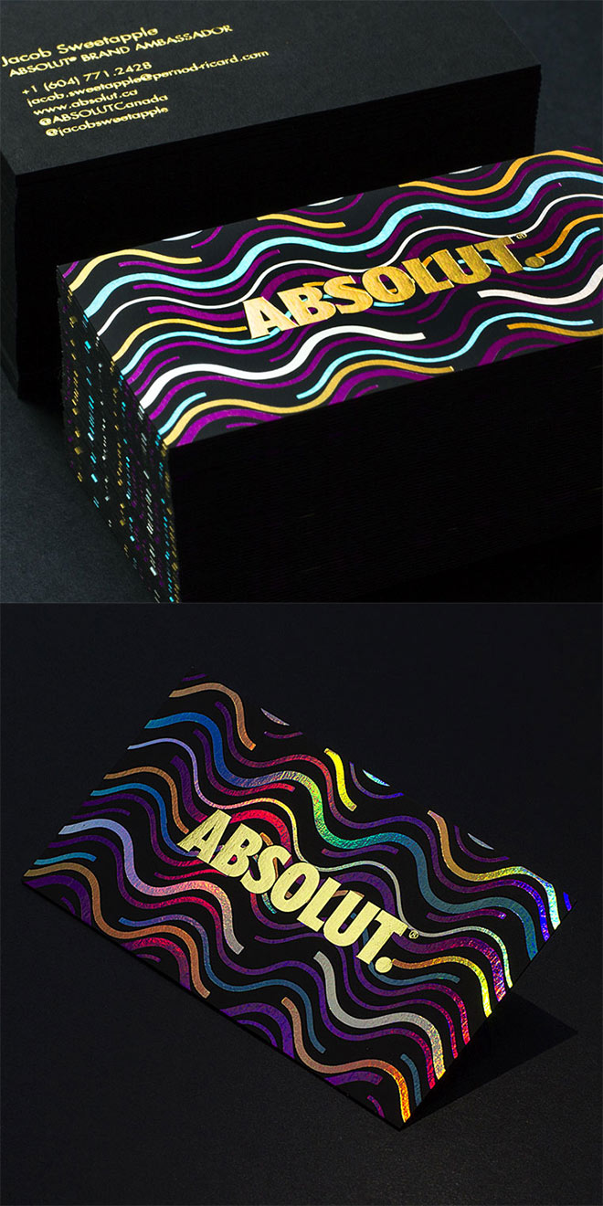 Absolut Multi-Foil Business Cards by JukeBoxPrint