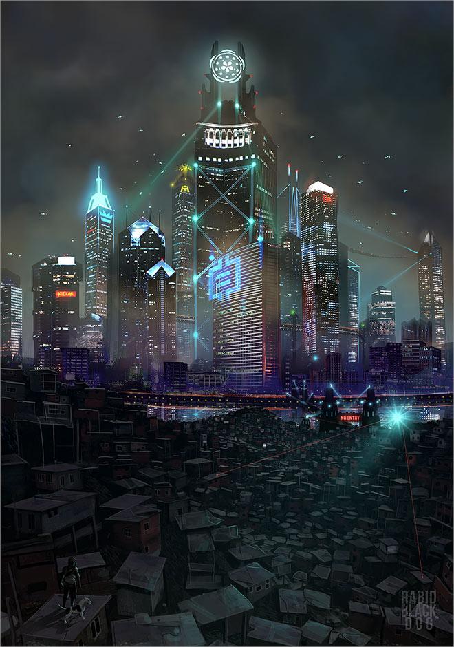 Heavenhell City by Krzysztof RabidBlackDog