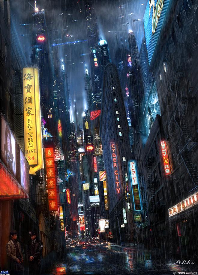 Neon City by Vladimir Manyuhin