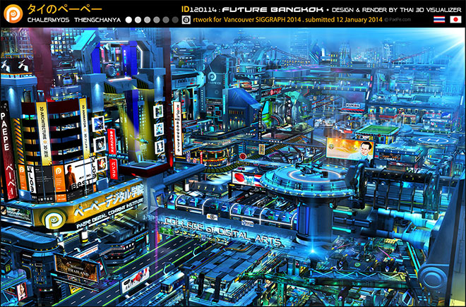 Future Bangkok by Chalermyos Thienchanya