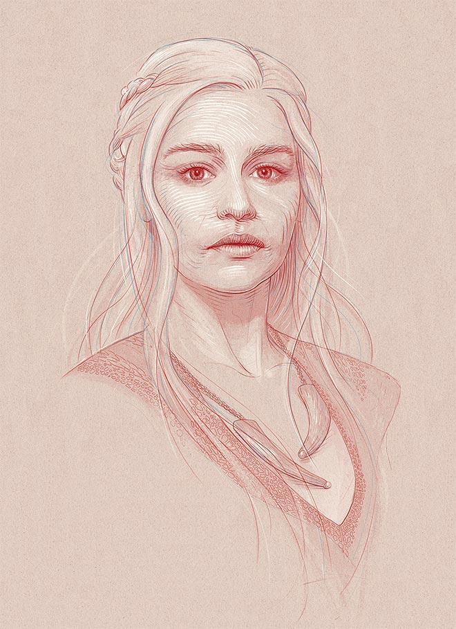 Daenerys Targaryen by Bartosz Kosowski