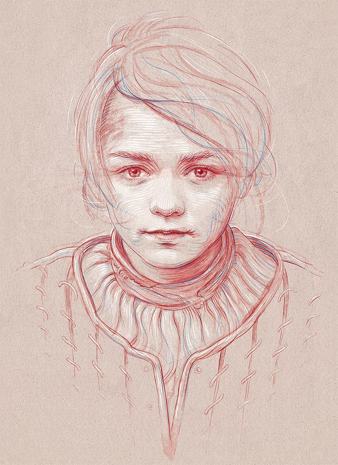 Arya Stark by Bartosz Kosowski