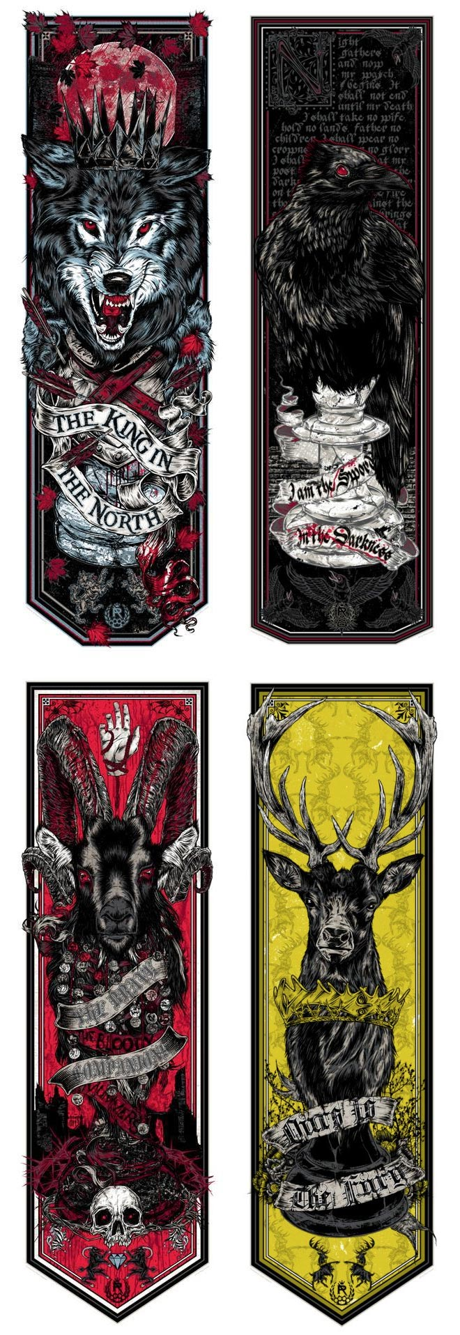 Game of Thrones Banners by Rhys Cooper