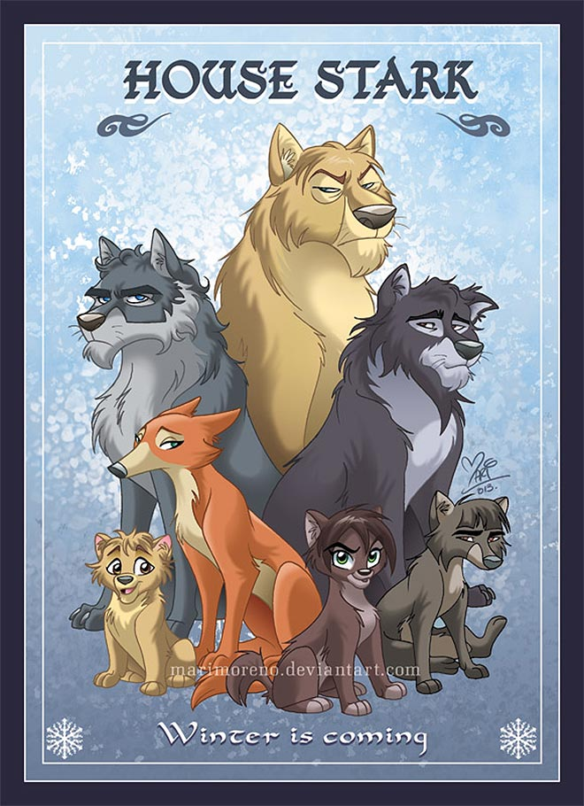Showcase Of Thrilling Game Of Thrones Inspired Fan Art - Game of thrones pet paintings
