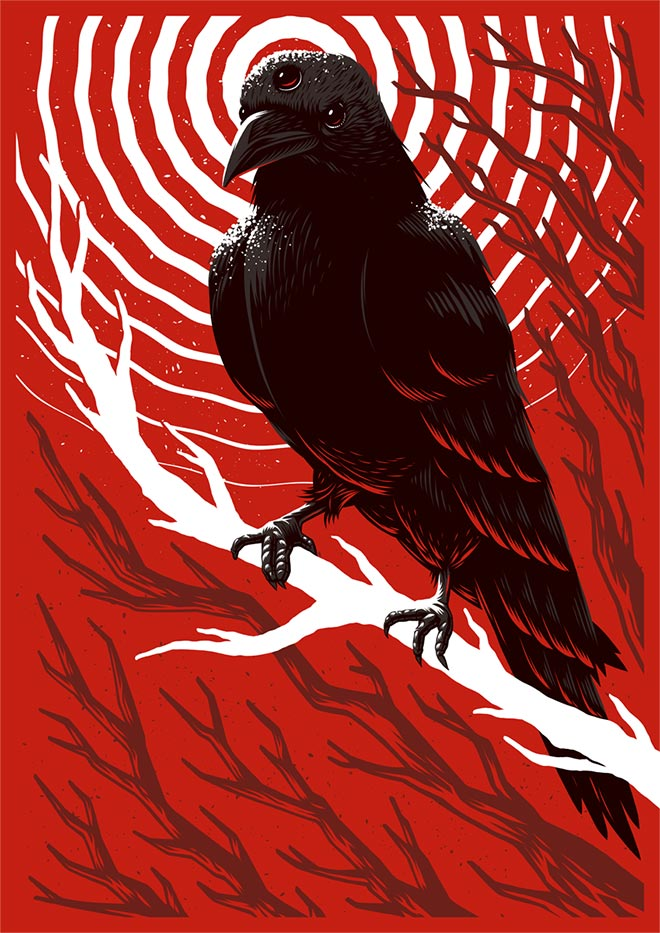 Winter is Coming Screenprint by Ian Jepson