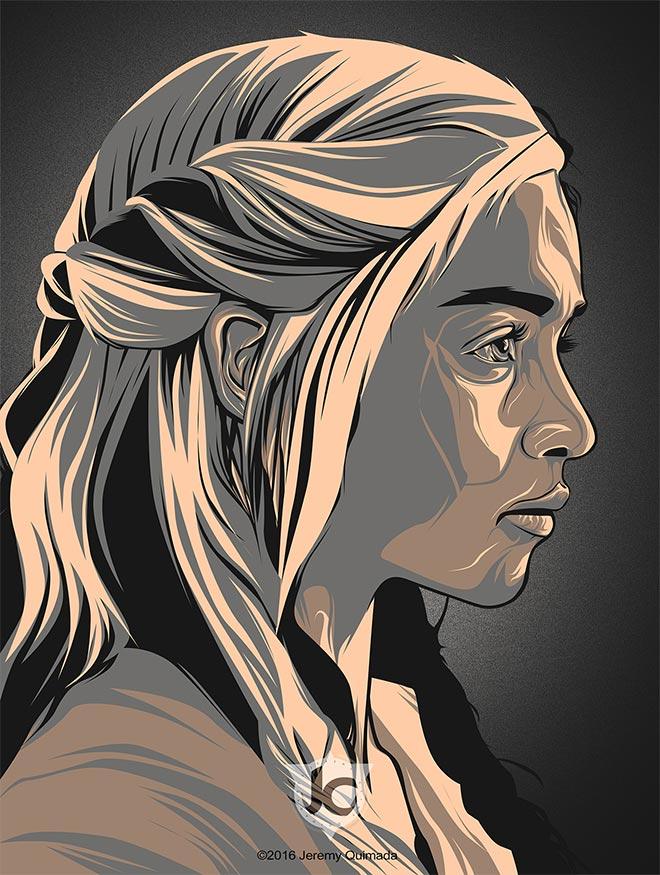 Daenerys by Jeremy Clint Quimada