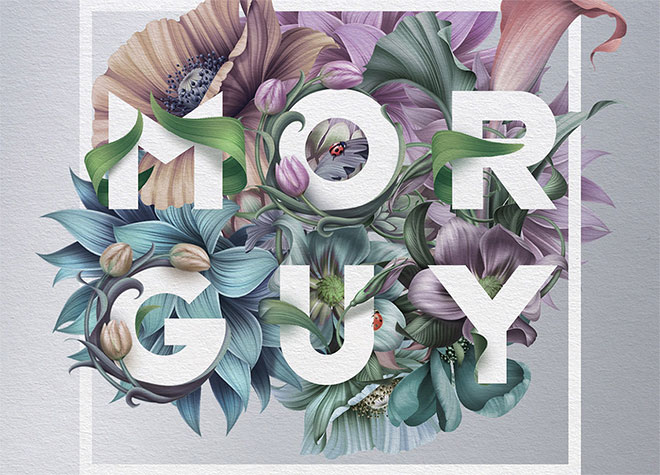40 Floral Typography Designs that Combine Flowers and Text