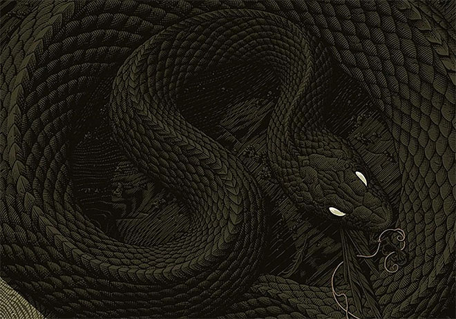 40 Sinister Pieces of Art and Design Work Featuring Snakes
