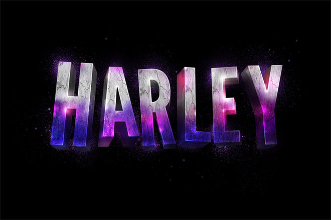 How To Create a Suicide Squad Inspired 3D Text Effect