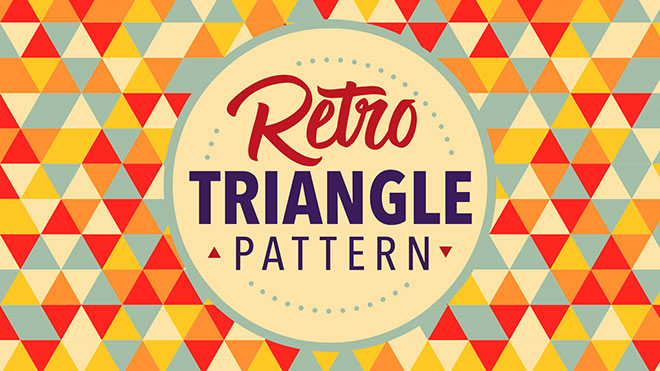 Retro Triangle Pattern Adobe Illustrator Tutorial