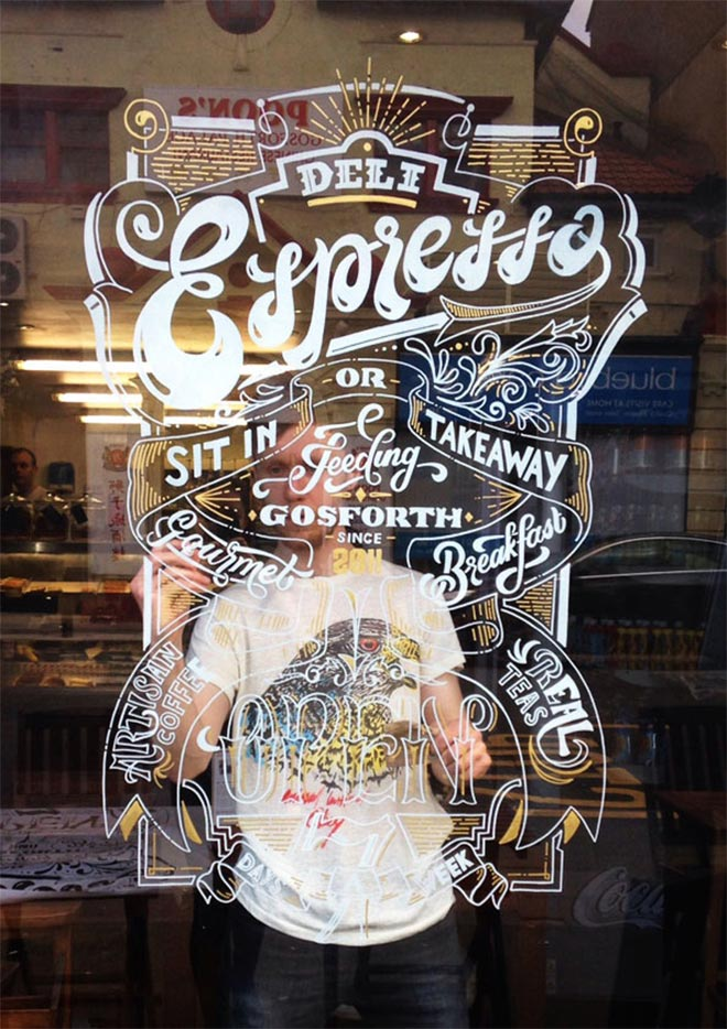 Deli Express Window Sign by Ashley Willerton