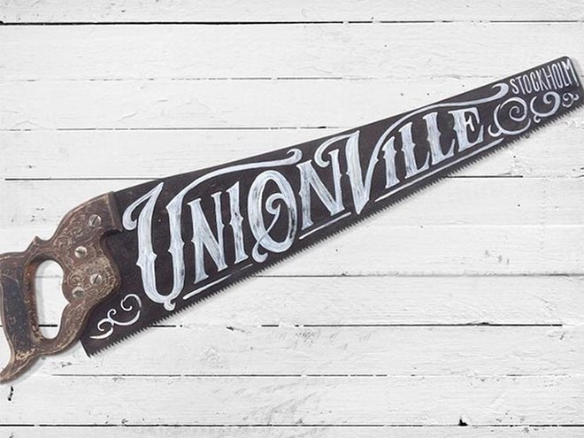 Hand Painted Vintage Saw by Matylda Mcilvenney