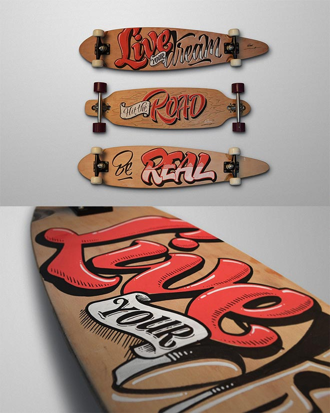 Lettering on Objects by Panco Sassano