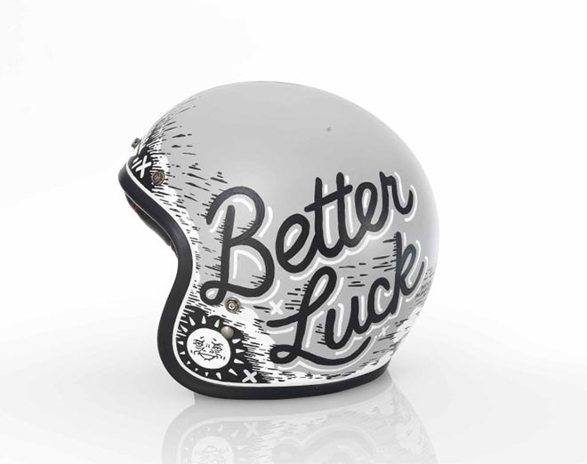 Better Luck Next Time Helmet by Matylda Mcilvenny